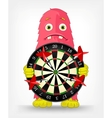 Funny Monster Darts vector image vector image