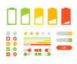Different interface design Flat design elements vector image
