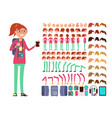 cartoon girl teenager in casual clothes vector image