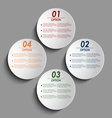 Abstract colored round options background vector image