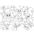lesson in the school of an owl in the woods vector image