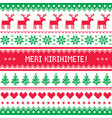 merry christmas in maori - new zealand pattern vector image