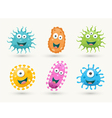 Set of colourful germs vector image