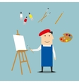 Artist or craftsman with art elements vector image vector image