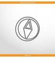 compass web flat icon vector image