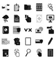 document case icons set simple style vector image
