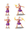 greek gods thunder cartoon set vector image