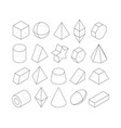 monoline frames of different vector image