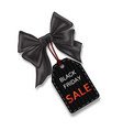 sale tags with black gift bow for black friday vector image