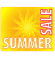 summer sale - information message for customers vector image