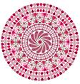valentine round frame vector image vector image