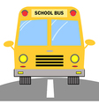 School Bus Cartoon Character vector image vector image