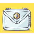 gray safe envelope on yellow background vector image