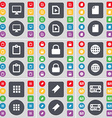 Monitor Media file File Survey Lock Globe Apps vector image