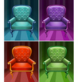 Armchair in four colors vector image