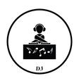 Night club DJ icon vector image