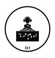 Night club DJ icon vector image vector image