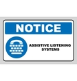Assistive listening systems sign Medical vector image