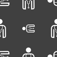 doctor icon sign Seamless pattern on a gray vector image