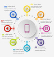 infographic template with mobile phone icons vector image