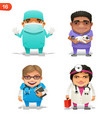 medical professions set vector image