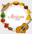 mexican food icon set design vector image