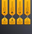 Modern infographic options banner Design elements vector image