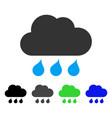 rain weather flat icon vector image