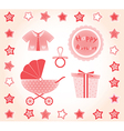 Set of baby images vector image
