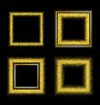 set of elegant luxury gold textured frames vector image