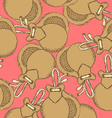 Sketch spanish castanet in vintage style vector image