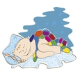 small child sleeps vector image