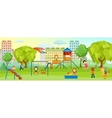 Playground With Children Composition vector image
