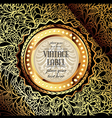 ornate golden background vector image vector image