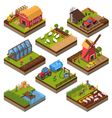 Agricultural Compositions Isometric Set vector image