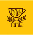 but first coffee lettering vector image vector image