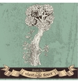 Magic grunge forest hand drawn by a vintage font - vector image vector image