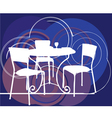 Interior design scene Table and chairs vector image vector image