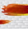 warm painted brick wall vector image