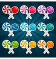 Colorful Lollipop Candy vector image