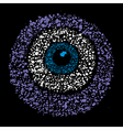 Grunge colourful amulet symbol - evil eye vector image vector image