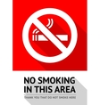 Label No smoking sticker vector image vector image