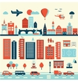 city modern old elements vector image