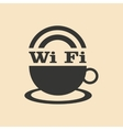 Flat in black and white mobile application wi-Fi vector image