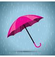 pink umbrella vector image