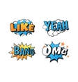 Popart comic speech bubble vector image