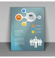 business flyer layout vector image