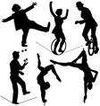 Circus Artist Silhouette vector image