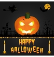Happy Halloween card Art vector image