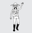 Hipster character people in vector image